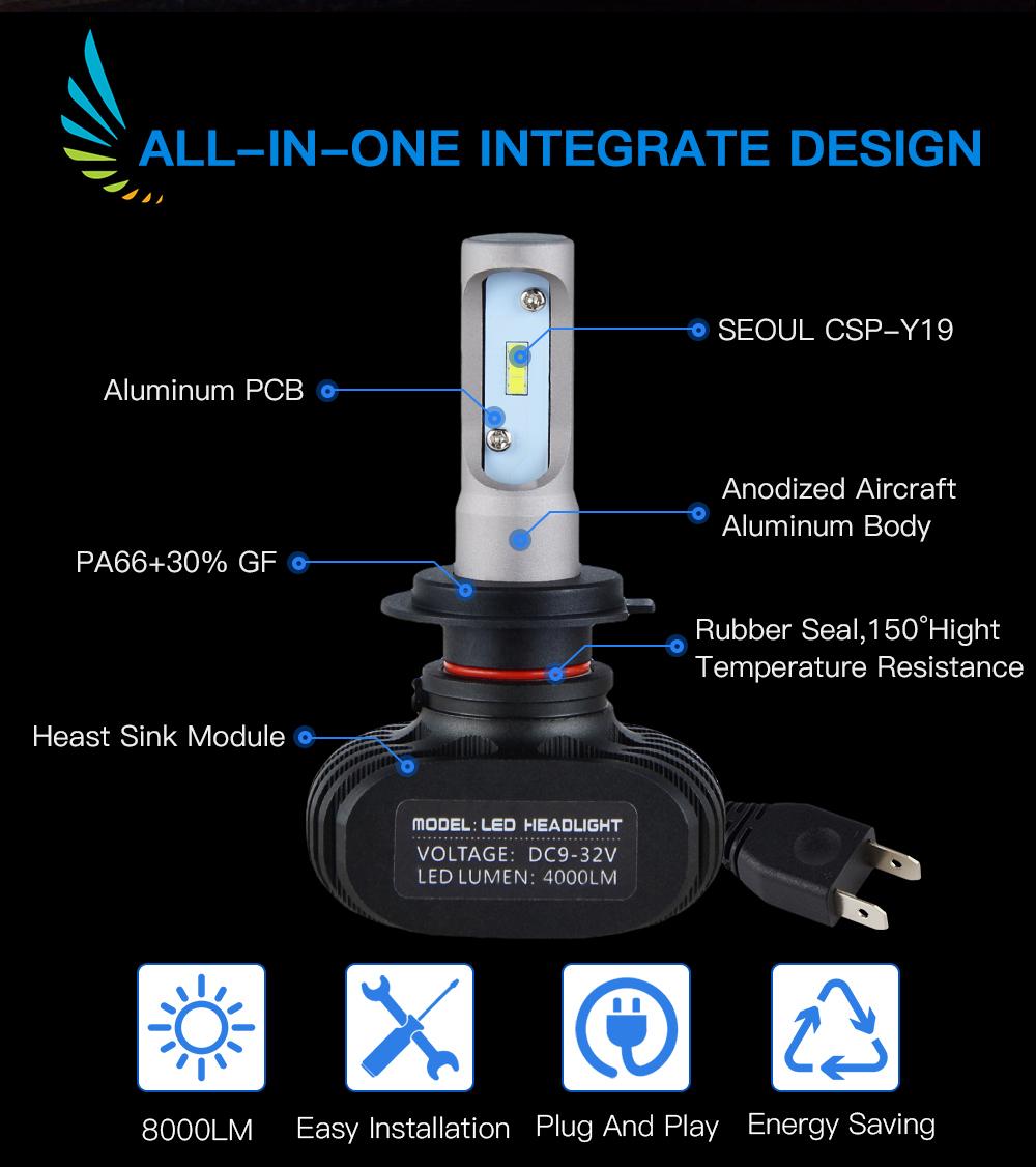 2x H1 Led Headlight Bulbs 50w 8000lm Csp For Acura Rl 99
