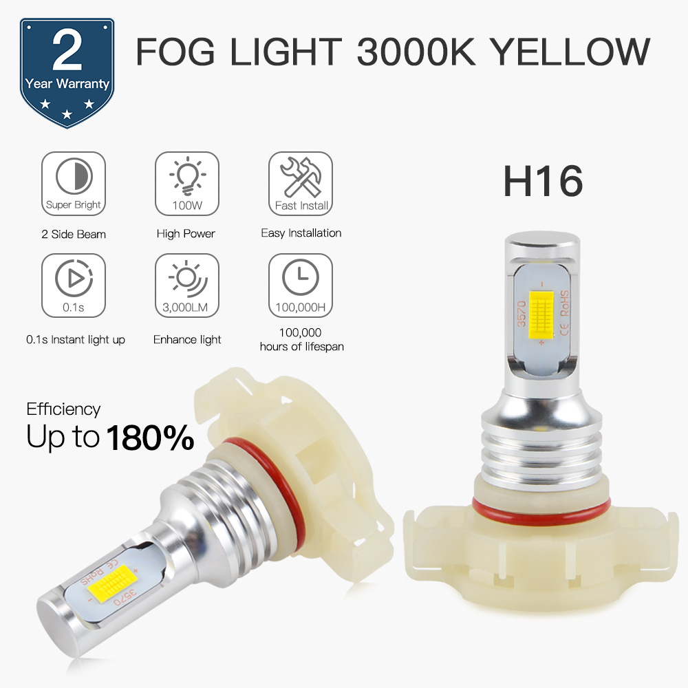Ps24w H16 Led Drl Fog Light Bulbs 5202 For Cadillac Cts Escalade 2504 Adapter Lights Relay Wiring Harness Ebay Esv