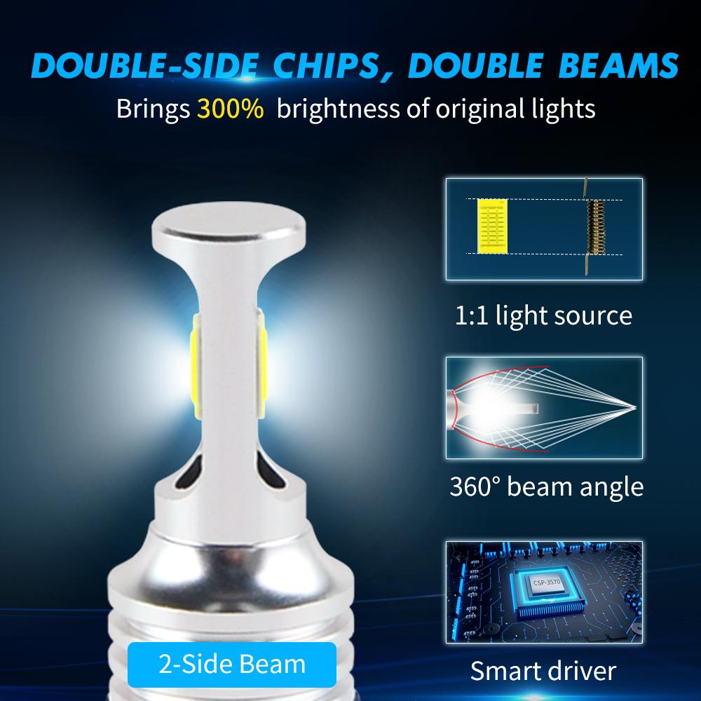 100w H11 H8 Led Fog Light Bulbs For Ford C Max 13 17