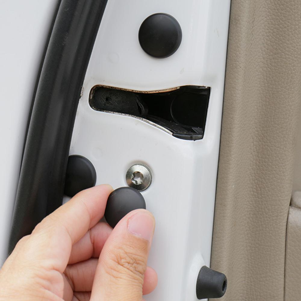 12 Pieces Auto Car Interior Accessories Door Lock Screw Protector Cover Cap Trim