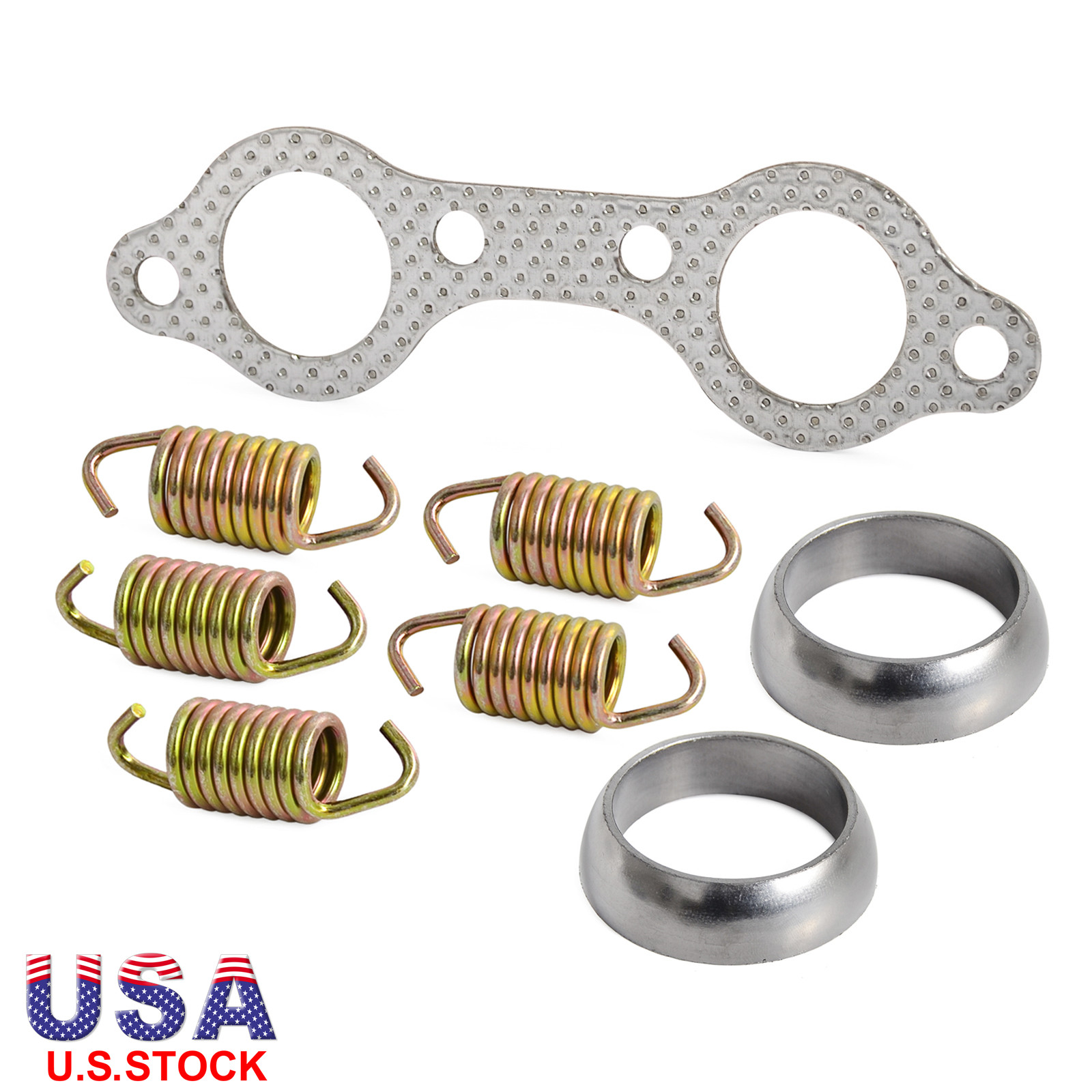 Value pack Pair of Exhaust Manifold Gasket Replacement for Motorbike Motorcycle ATV UTV 5811511 2pcs