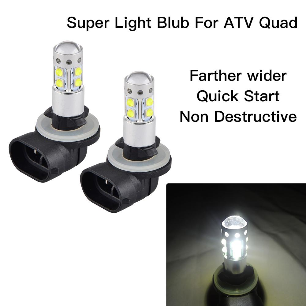 LED Head Light Bulb For Polaris Utility RANGER 2008-2014 100W 2pcs Lamps