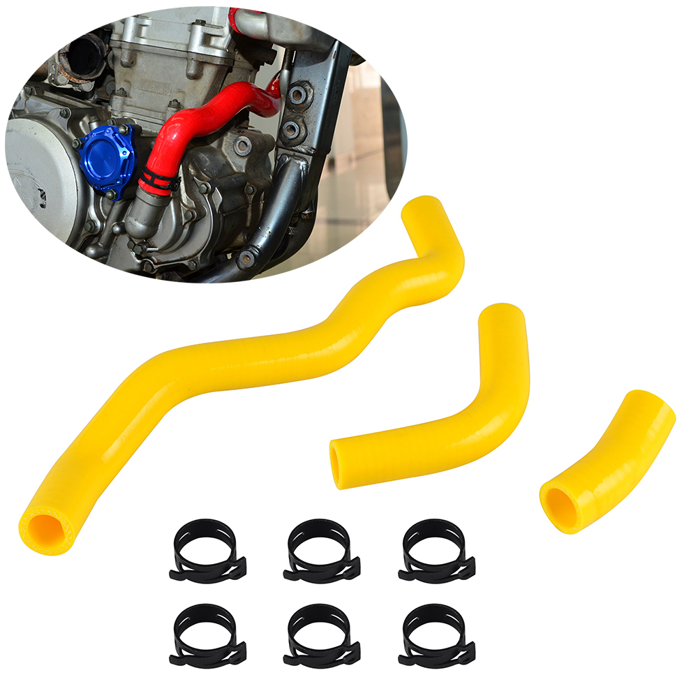 3PCS Radiator Hose Kit With Pipe Card Code For SUZUKI DRZ 400 E S SM 2000-2018