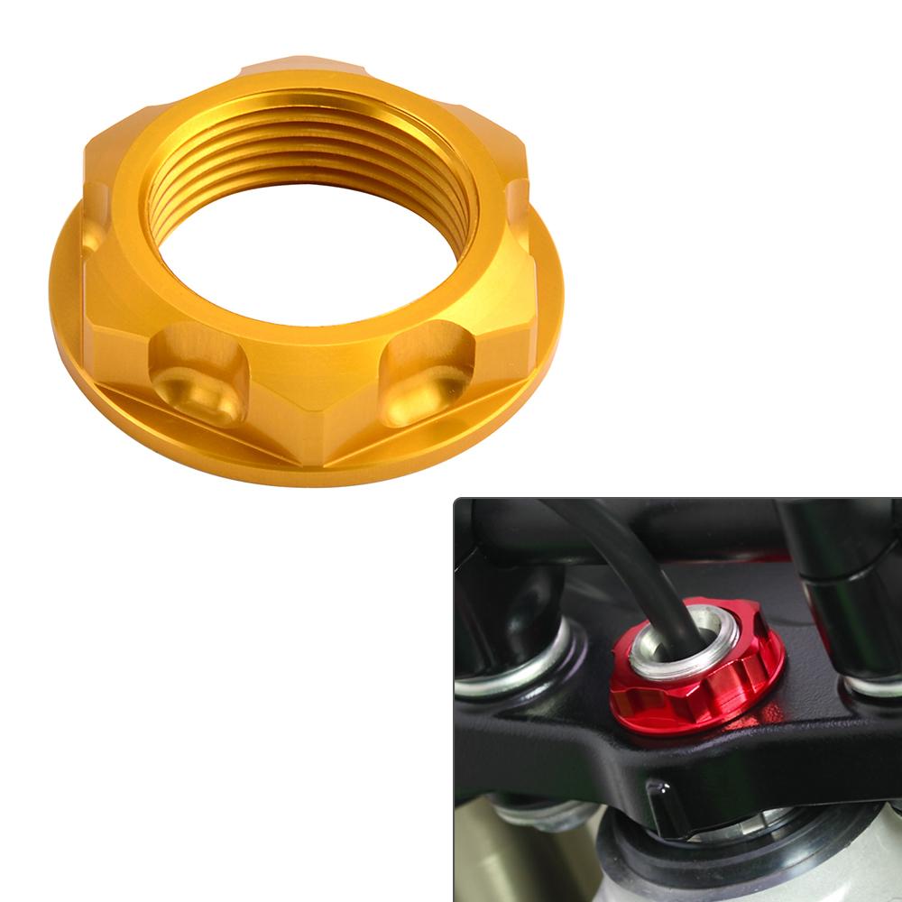 CNC Steering Stem Nut Bolt For Suzuki DJEBEL250XC RMZ RMX250 DRZ400S SM Kawasaki
