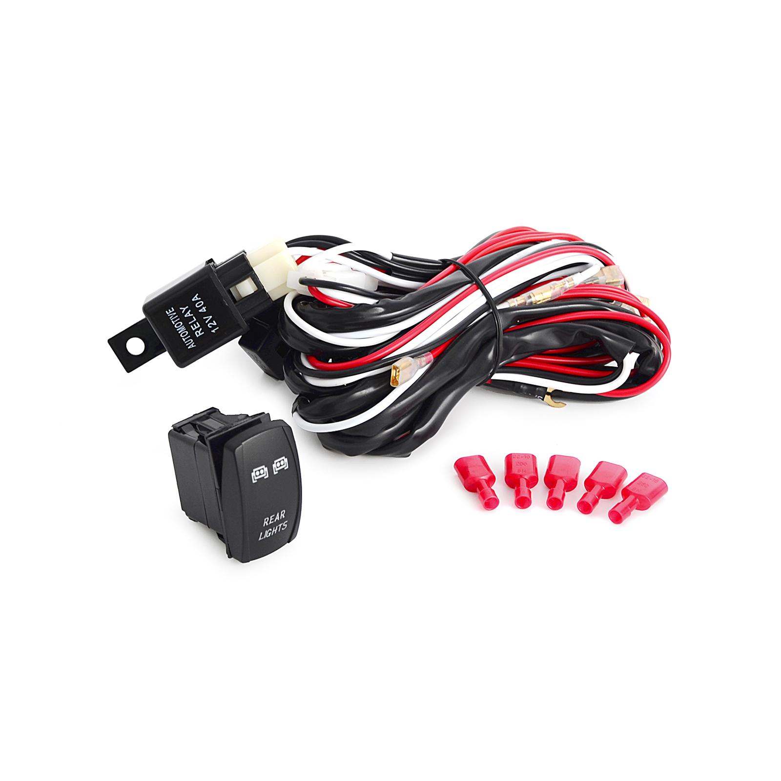 Wondrous Wiring Harness Rocker Switch Led Light Bar For Polaris Rzr Xp 1000 Wiring Digital Resources Funapmognl