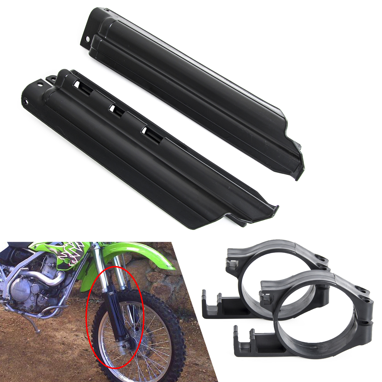 Fork Clips Guard Slider Protector For Kawasaki KDX 250 91