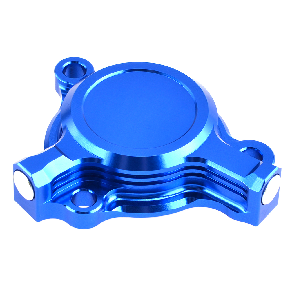 Tusk Aluminum Oil Filter Cover Blue Anodized YAMAHA YZ250F 2003-2013 yz 250f