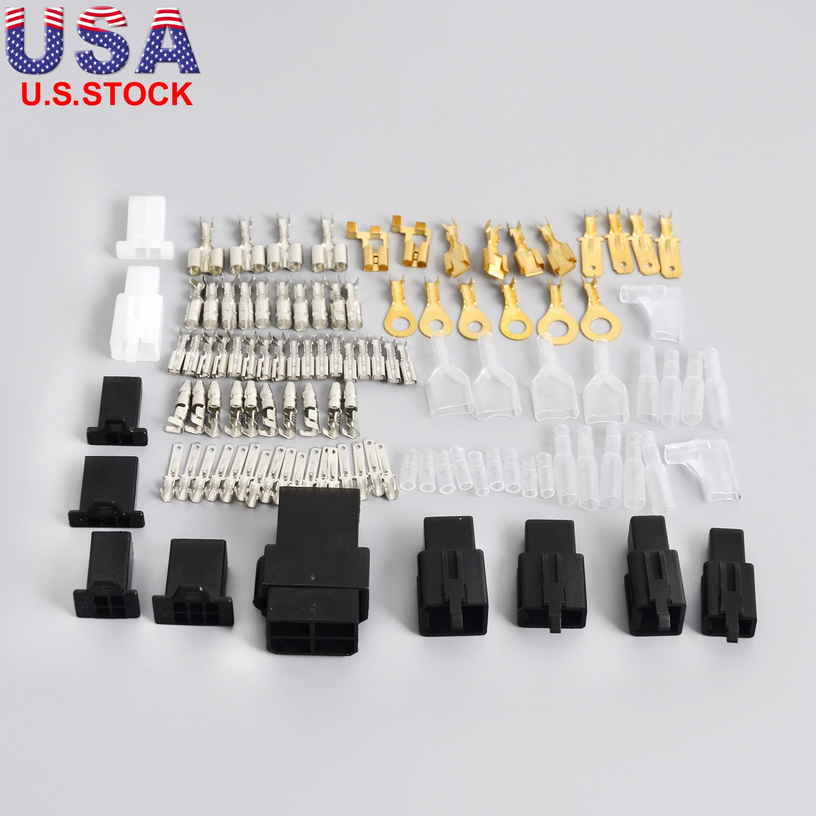 Motorcycle Electrical Wire Harness Repair Kit Wiring Loom Plug Bullet  Connector