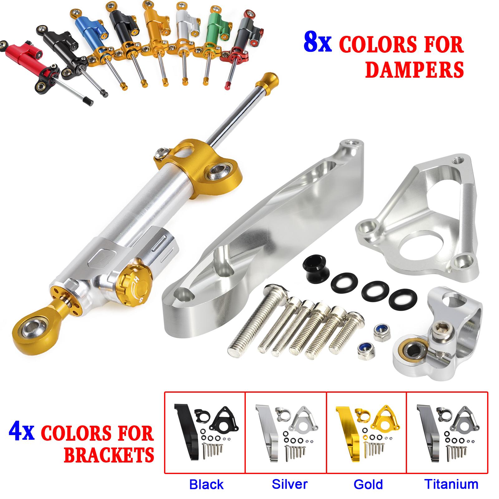 Silver CNC Steering Damper Stabilizer Mounting Bracket for Honda CBR600RR 07-16
