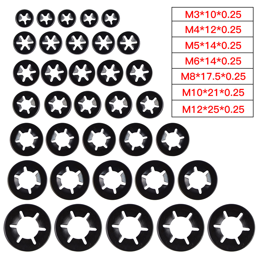 Star Nut Fastener Clips Starlock Washers Push On Lock 10mm Pack Of 50
