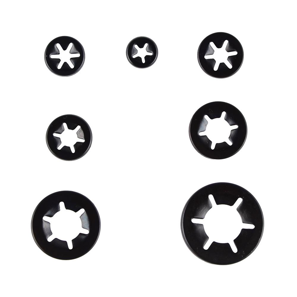 Star Lock Clamp Lock Push On Grab Fastener Retaining Washers10X3,4,5,6/&8mm50PCE